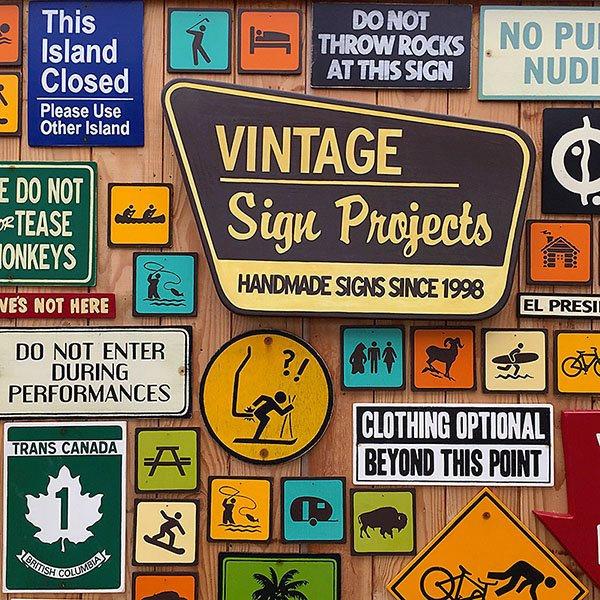 59 ~ Vintage Sign Projects